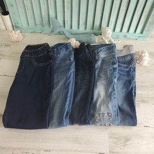 Bundle of 5 Pairs of Girls Jeans Size 8